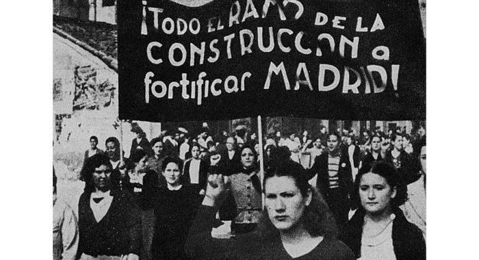 Frauendemonstration für die Verteidigung der Hauptstadt der Republik in Madrid Foto: jW Archiv
