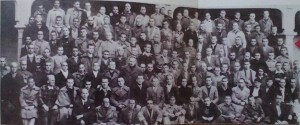 Kriegsgefangene der internationalen Brigaden in San Pedro de Cardena im Jahr 1938. Fotograf Kevin Buyers, XV. Internationale Brigade in Spanien; http://internationalbrigadesinspain.weebly.com/